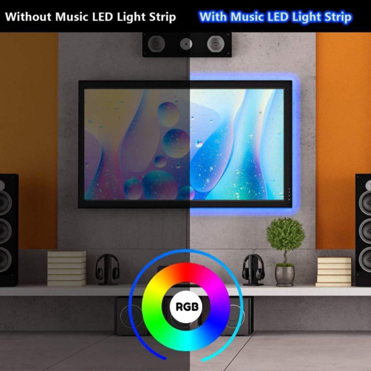 16.4FT SMD 5050 Waterproof LED RGB Flexible LED Strip Light Lamp Kit (300 Light with Adapter)