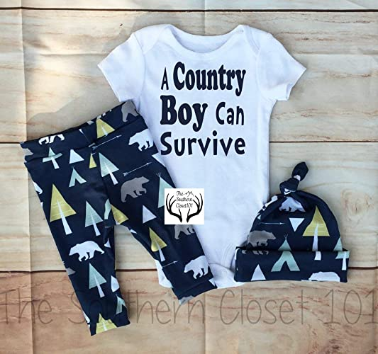 9567e7132f71 Amazon.com  Baby boy Coming Home Outfit