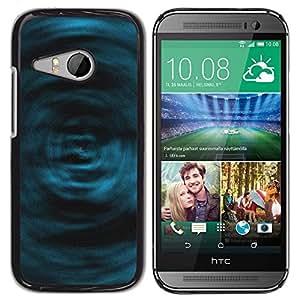 LECELL -- Funda protectora / Cubierta / Piel For HTC ONE MINI 2 / M8 MINI -- Blue Swirls --