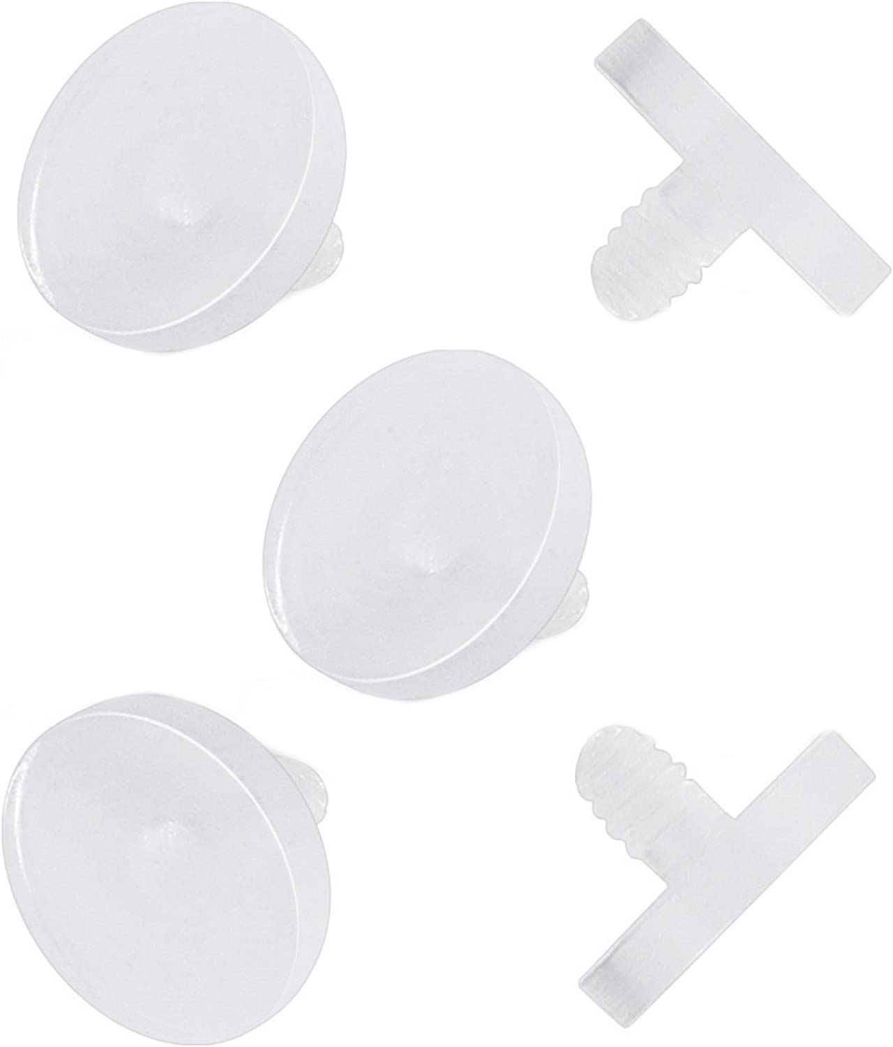 Allergy Free Pierced Owl Set of 10 Clear Acrylic 4mm Dermal Anchor Retainer Tops Metal Free