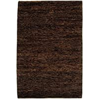 Safavieh Organica Collection ORG213A Hand-Knotted Brown Wool Area Rug (4 x 6)
