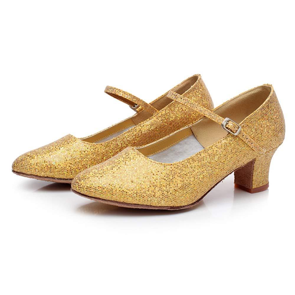HCCY Moderne Tanzschuhe, weibliche weibliche weibliche Tanzschuhe für Erwachsene, weiche Tanzschuhe, soziale Tanzschuhe, Goldene Pailletten B07L25J44S Tanzschuhe Verkaufspreis 4234ed
