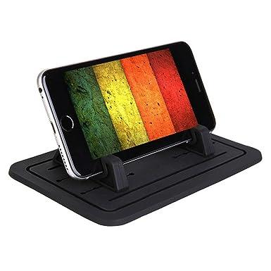 Portateléfonos con alfombrilla de silicona antideslizante para coche para teléfonos Samsung S5
