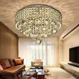 N3 lighting Ø40CM Premium 6-LIGHTS G9 Modern Elegant Round Ceiling Light Pendant Fixture Lighting Crystal Chandelie