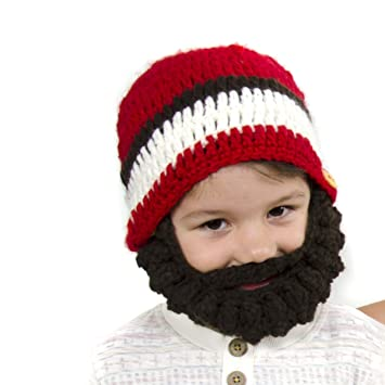 Amazon.com  Large Beard Beanie - Red Lumberjack Beard Hat for Kids and  Young Adults. Soft 1944a73ff7c