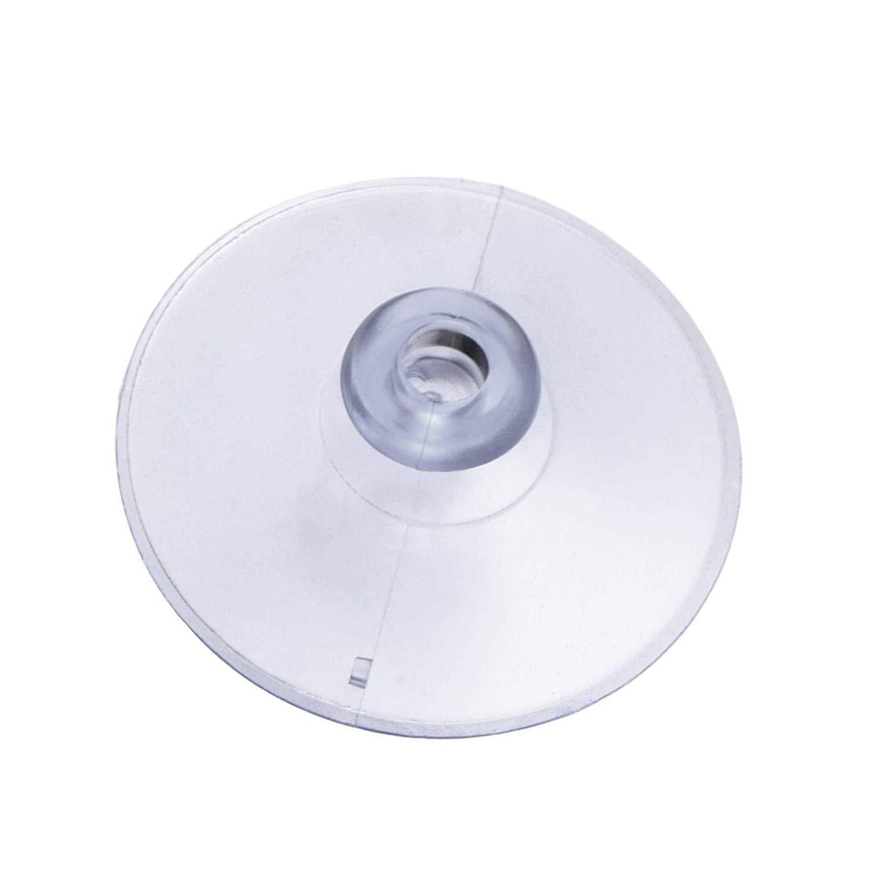 soporte de esponja Ganchos con ventosa transparente 20 paquetes de 45 mm ventosa de pl/ástico PVC sin ganchos