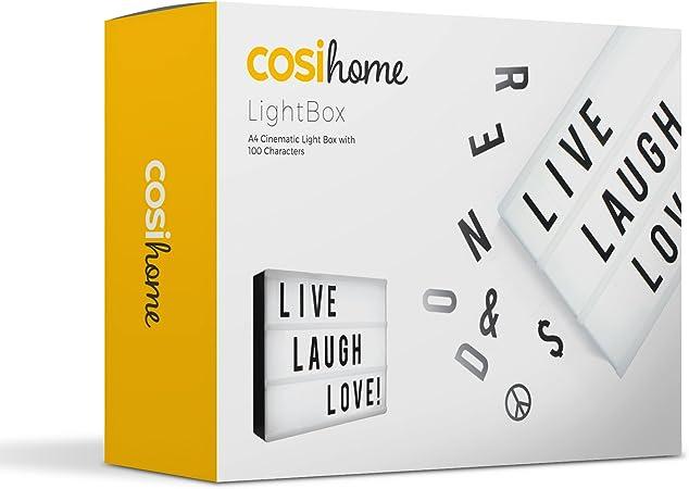 und Symbolpaket für A4 Cinematic Light Up-Zeichenbox Cinema LED B3W6 Buchstaben