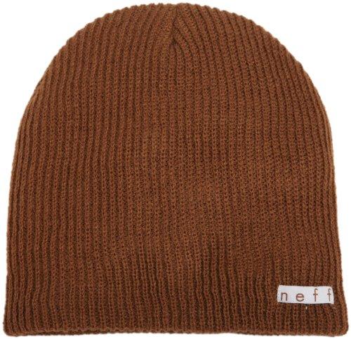 Brown Headwear - Neff Unisex Daily Beanie, Warm, Slouchy, Soft Headwear, Brown, One Size