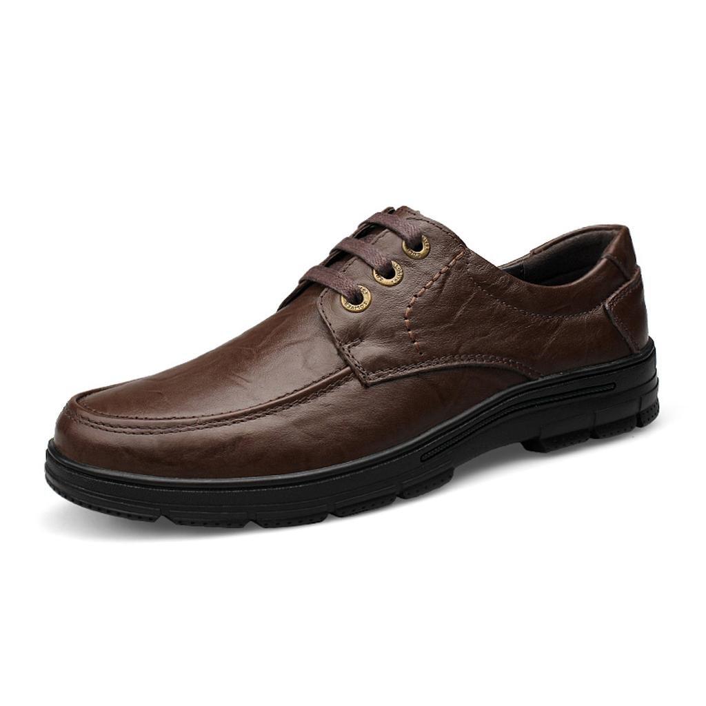 Hombre, Conducción, Zapatos Zapatos de Encaje Zapatos Antideslizantes Zapatos Casuales Zapatos de Trabajo 41 EU|Brown