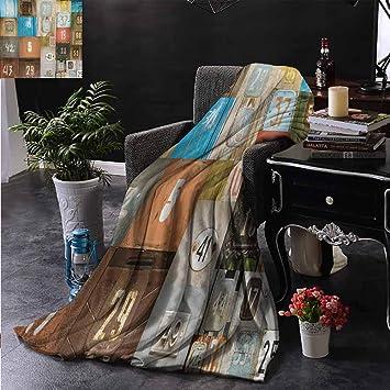 Amazon.com: Xlcsomf - Manta para dormitorio con diseño ...