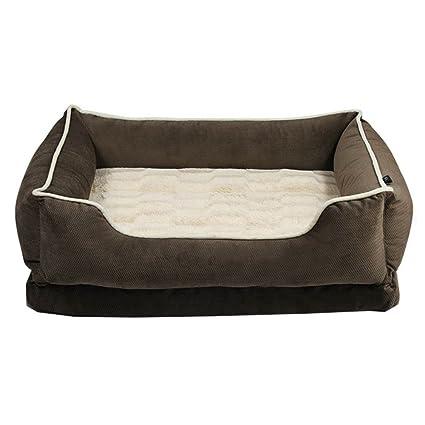 ANHPI Cama de Perro Grande caseta Perro pequeño extraíble y Lavable Mascota Nido Invierno cálido Perro
