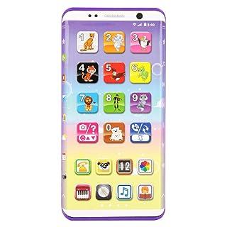 Zantec Telefono educativo Il telefono educativo dei bambini gioca i giocattoli del telefono intelligente dei bambini con il touch screen del porto USB che impara i giocattoli educativi