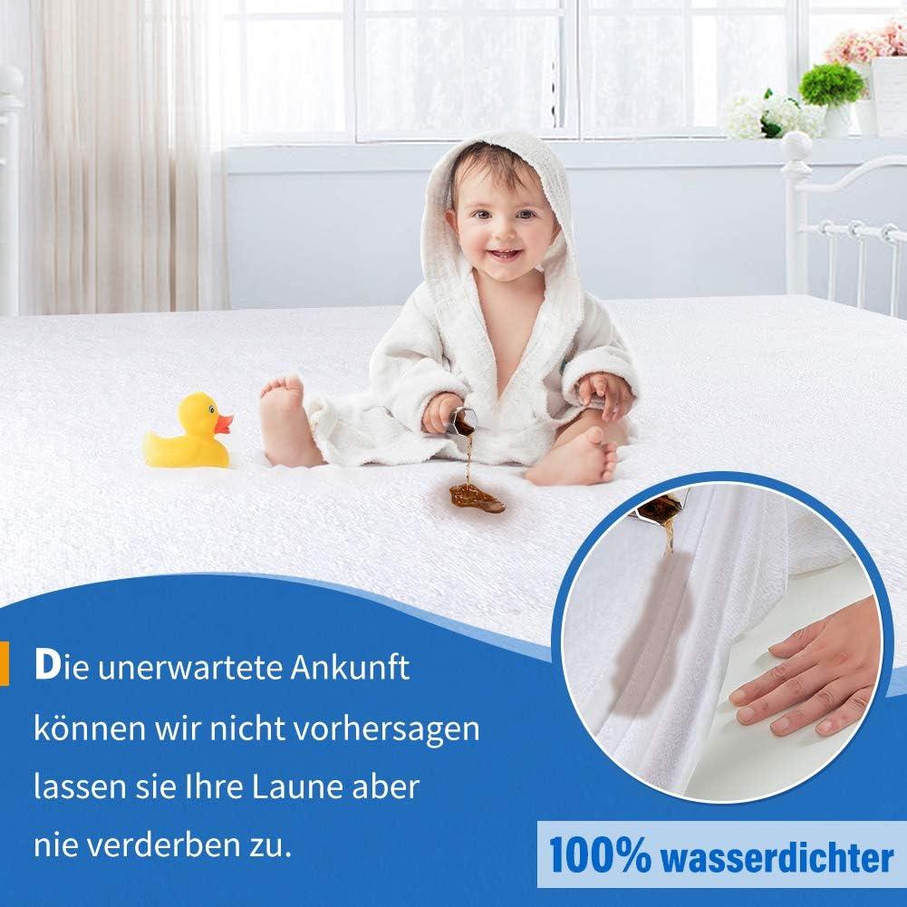 Schutz gegen Inkontinenz Milben Atmungsaktiv 60 * 120cm Panda Grip Matratzenschoner Wasserdicht Baumwolle Matratzenauflage Matratzenschoner