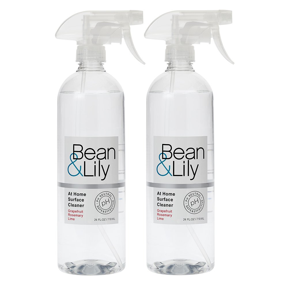 Bean & Lily at Home Surface Cleaner - Grapefruit Rosemary Lime - 24 oz – Degreaser - Natural Plant Based - pH Neutral – Non Toxic - Sprays (Pack of 2)