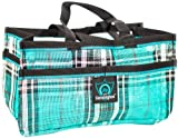 """Kensington Horse Grooming Tote Bag —  Handy Upright Stow Away in Vibrant Plaid Designs — Very Durable with Lots of Storage Compartments — 12""""L x 7""""W x 7""""D"""