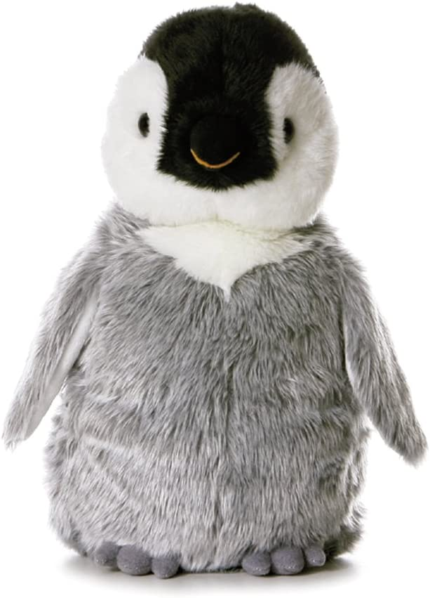 Flopsies - Pingüino de Peluche, 31 cm, Color Gris, Blanco y Negro (Aurora World 13232)