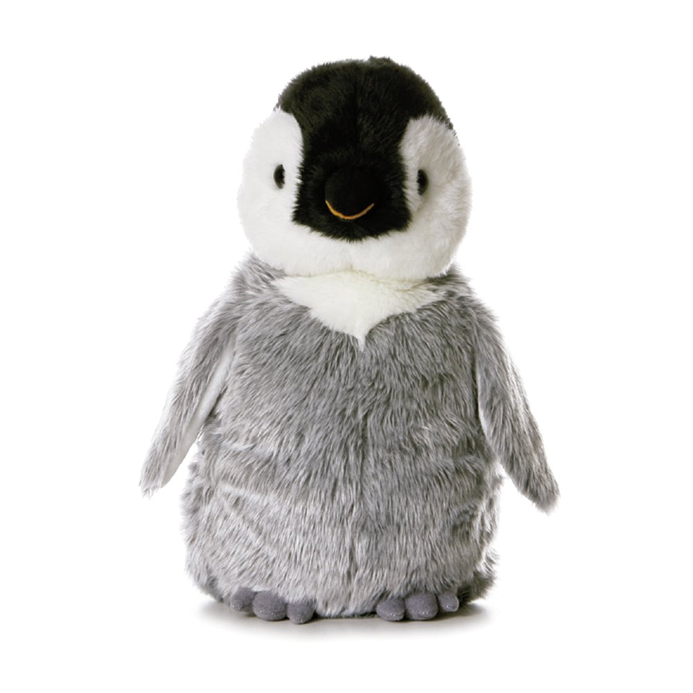 Flopsies - Pingüino de peluche, 31 cm, color gris, blanco y negro (Aurora World 13232) animal animales aura madagascar