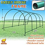 Strong Camel Multi-use Support Arch Frame for Climbing Plants/Flowers/Vegetables Size 20' X 10' X 7' Greenhouse Frame