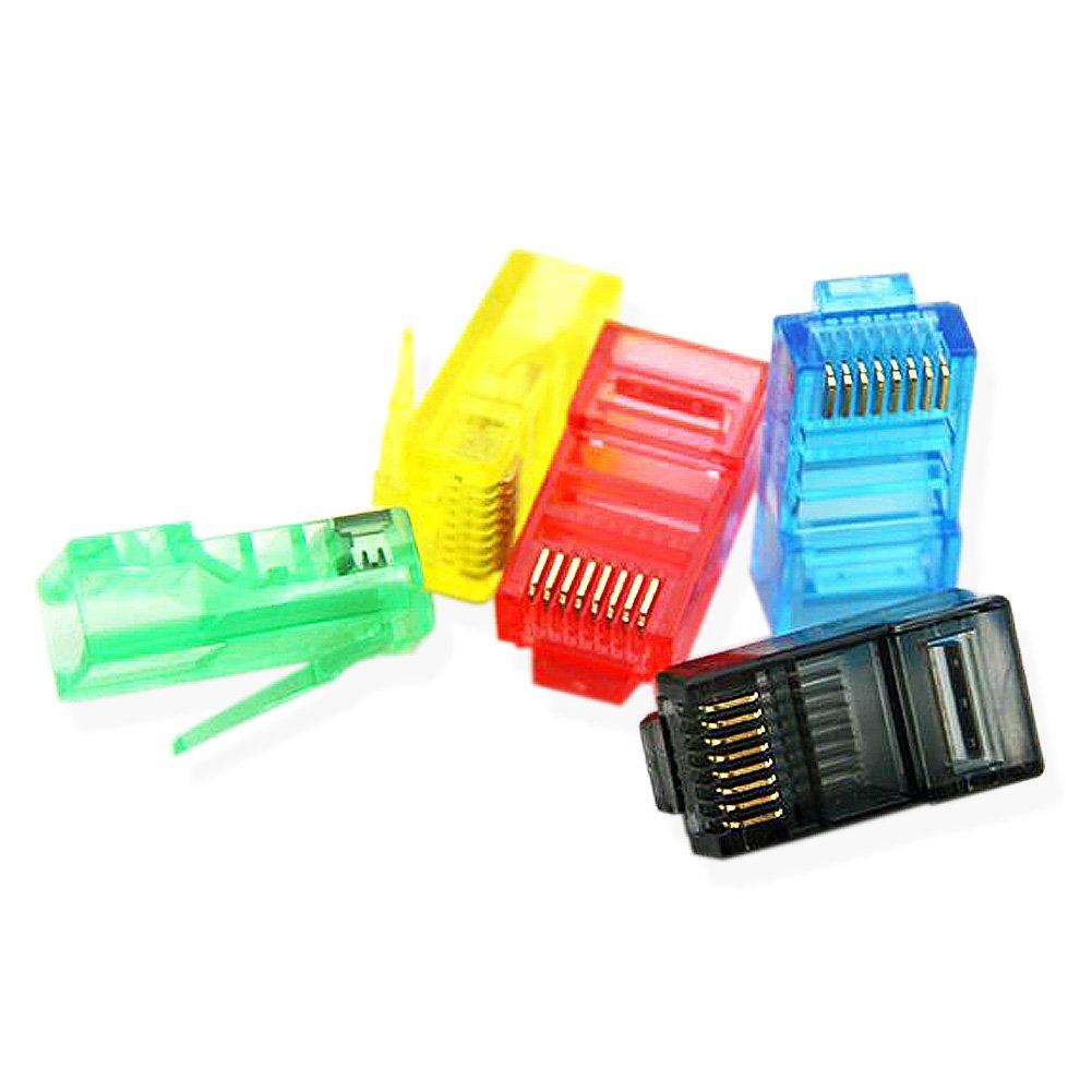 Platinum Tools RJ45 Cat5e Modular Plugs 50-Pcs 8P8C Connectors (Blue) by DCKR (Image #2)