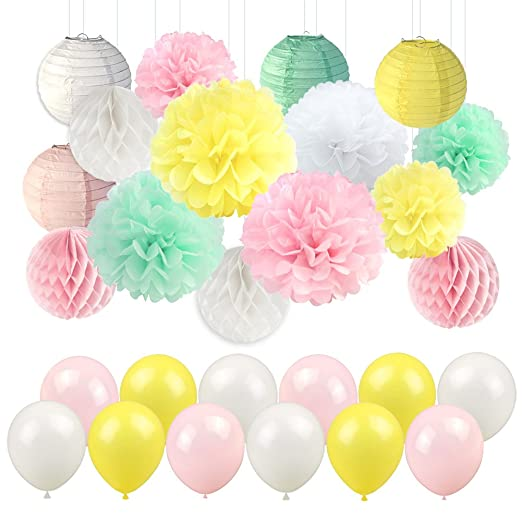 LUCK COLLECTION Baby Shower Decorations for Girl Mixed Pink ...