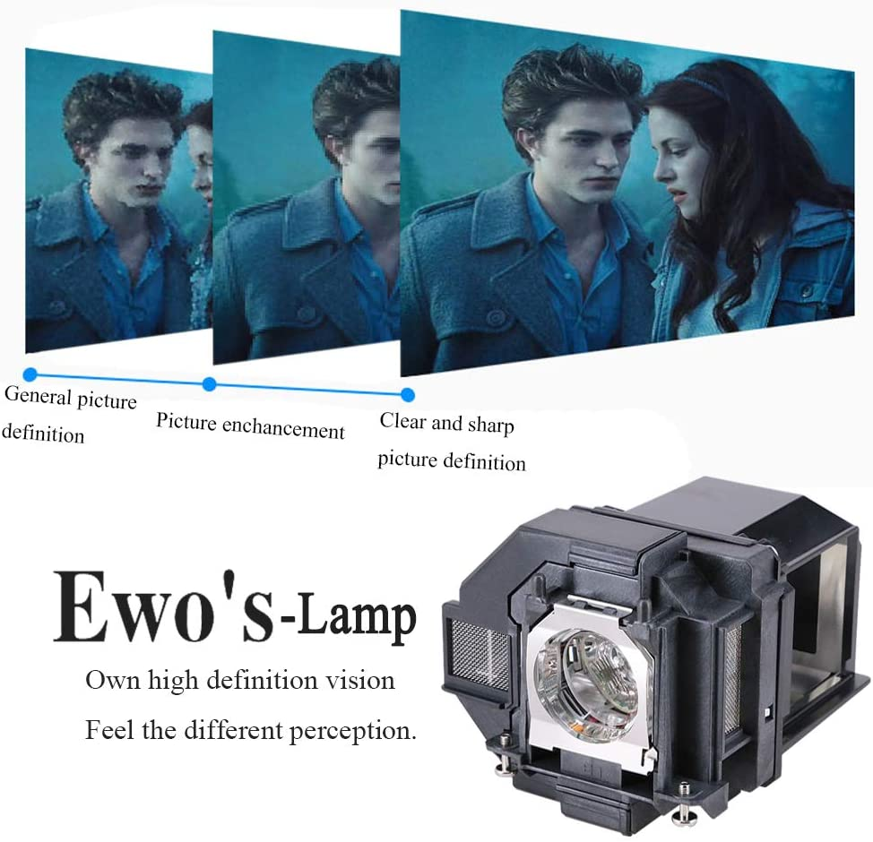 EWOS Replacement Projector Lamp for ELPLP96 Epson Powerlite Home Cinema 2100 2150 1060 660 760hd VS250 VS350 VS355 EX9210 EX9220 EX3260 EX5260 EX7260 X39 W39 S39 109W V13H010L96 Lamp Bulb Replacement