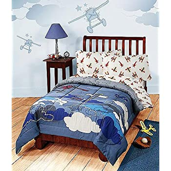 Disney Vintage Mickey Plane Crazy Twin Bedding Comforter