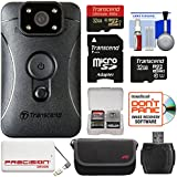 Transcend DrivePro Body 10 1080p HD Video Camera Camcorder (2) 32GB Cards + 5000mAh Power Bank + Case + Reader + Kit