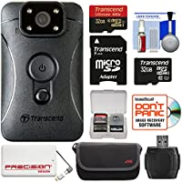Transcend DrivePro Body 10 1080p HD Video Camera Camcorder with (2) 32GB Cards + 5000mAh Power Bank + Case + Reader + Kit