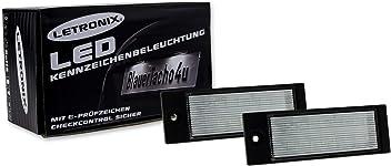 LETRONIX SMD LED Kennzeichenbeleuchtung Module Navara D40 2005-2015 mit E-Pr/üfzeichen
