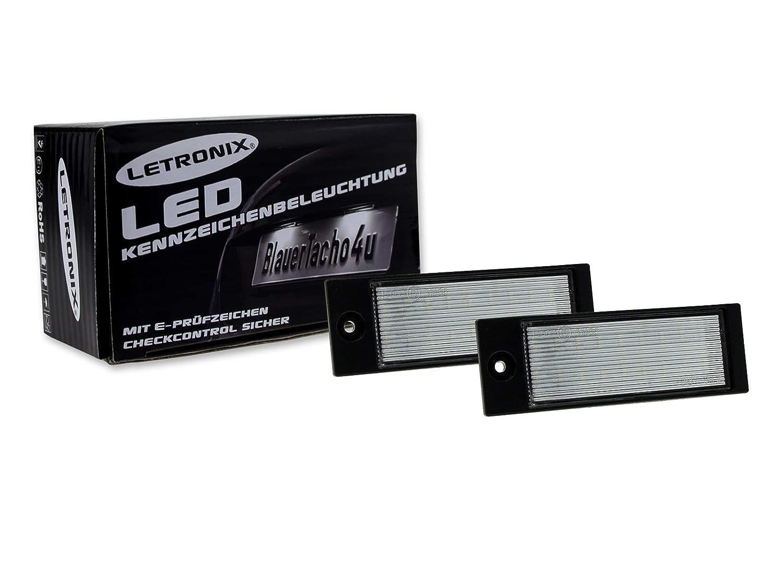 LETRONIX SMD LED Kennzeichenbeleuchtung Module Tucson Vor-Facelift 2015-2018 und Ceed SW Typ CD ab 2018 mit E-Pr/üfzeichen