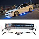 LEDGlow 4pc Blue Slimline LED Underbody Underglow Car Light Kit - Water Resistant - Wide Angle SMD LEDs