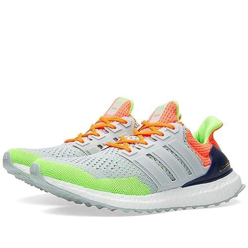 04cb15674 Adidas X Kolor Ultra Boost Grey Solar Orange AF6219 US Size 7.5  Amazon.ca   Shoes   Handbags