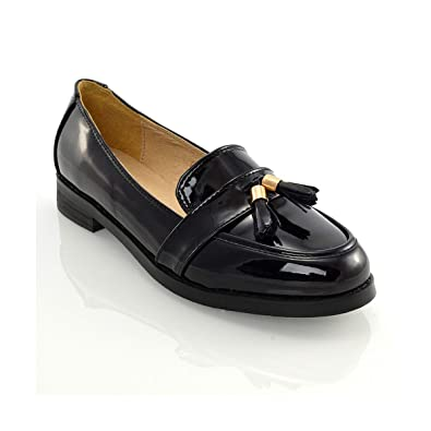 c04c0862233e ESSEX GLAM Womens Loafers Flat Tassel Ladies Casual Work School Slip On Shoes  Pumps  Amazon.co.uk  Shoes   Bags