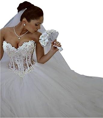 Phoenix Sweetheart Ball Gown Wedding Dresses 2017 Puffy Beading ...