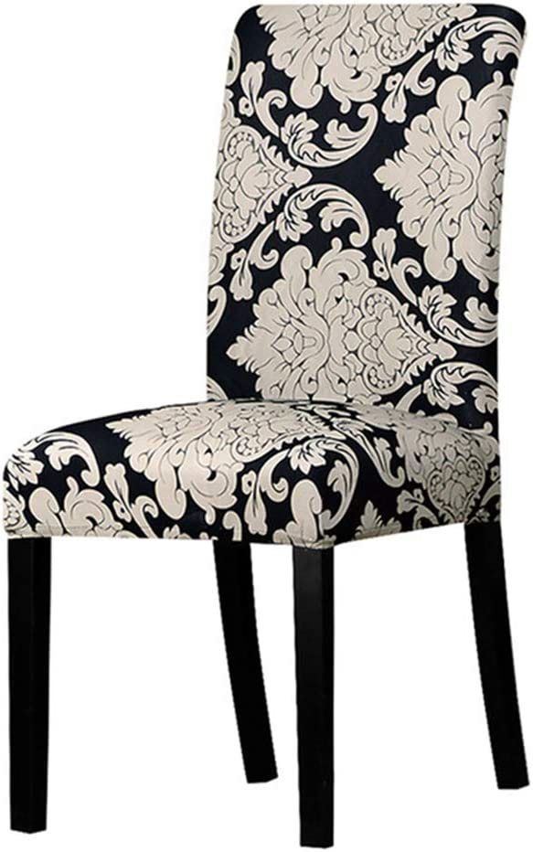 YURASIKU Printing Dinning Chair Slipcovers, Set of 4 Spandex Chair Covers Seat Protector for Home Banquet Wedding Decoration