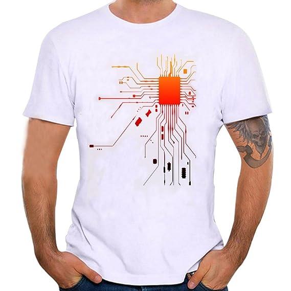 Camiseta Para Hombre, ❤️Xinantime Hombres Que Imprimen la Camisa de Las Tees Blusa de Manga Corta, Blanco, S-4XL: Amazon.es: Ropa y accesorios