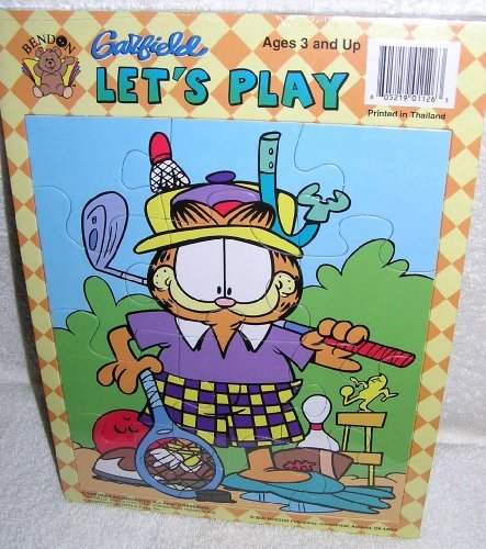 2002 Garfield the Cat and Odie the Dog Frame Tray Puzzles - Set of 2