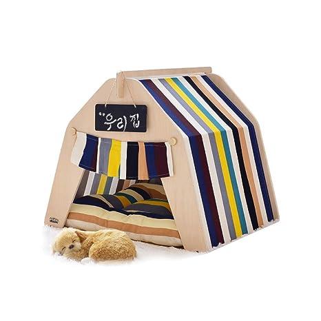 XDNAYU Cama de Mascotas Tienda Casa de Perro de Madera Cama de Mascotas Gato de la