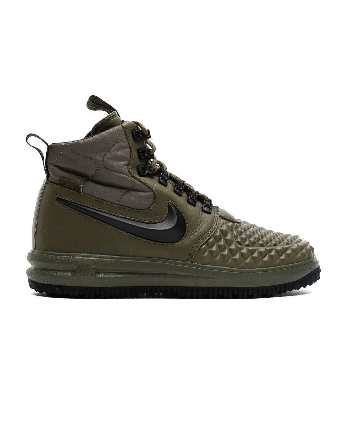 online retailer 27f11 8a741 Galleon - Nike Mens Lunar Force 1 Duckboot  17 Medium Olive Black-Wolf Grey  916682-202 Size 12