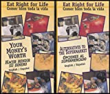 Eat Right For Life: Alternatives to the Supermarket, Your Money's Worth, Mexican and Navajo Dishes, Nutrition During Pregnancy (Comer Bien Tod La Vida) [Dual Lanugage English/Spanish] 4 VHS Videos