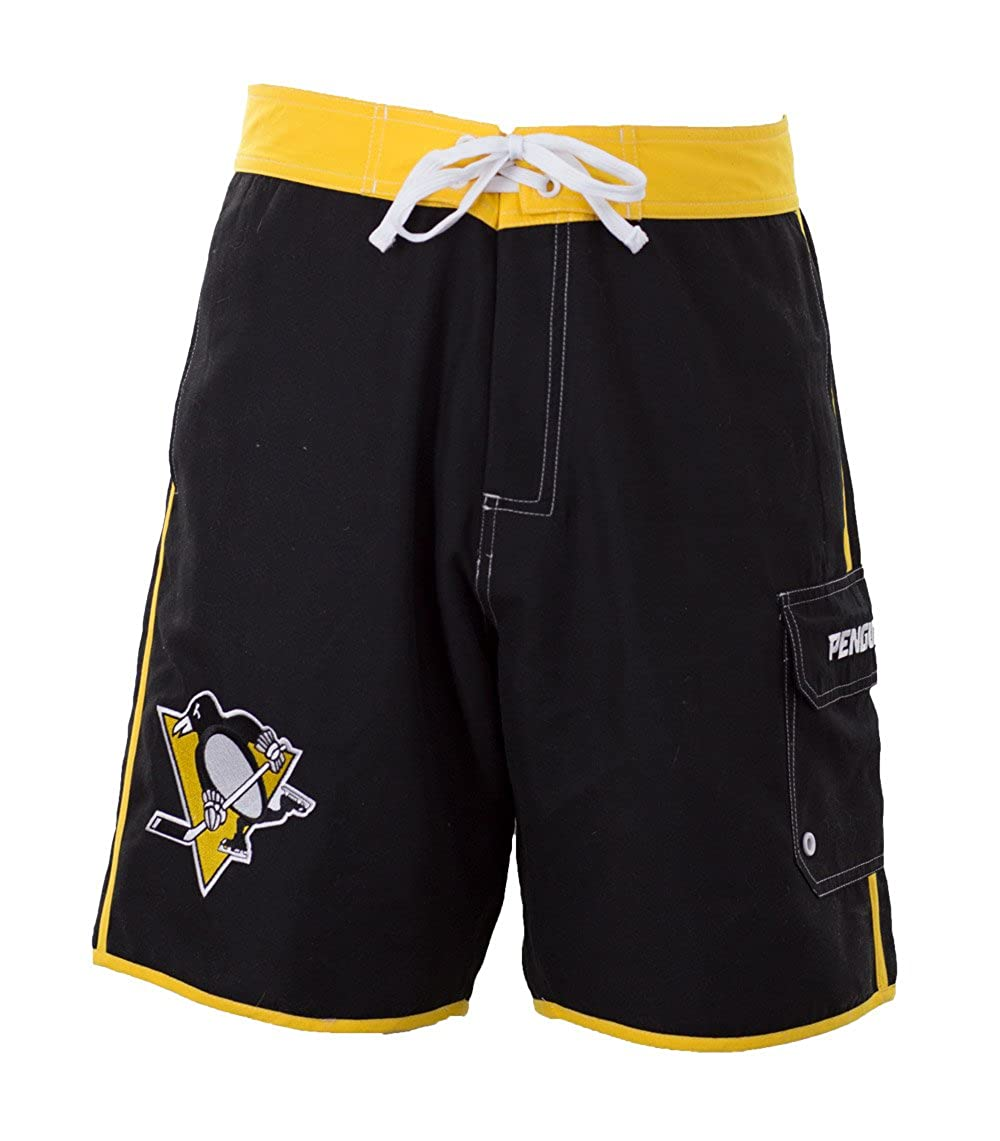 Calhoun NHL Men's Official Team Boardshorts (Pittsburgh Penguins, XX-Large)