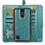 Ymhxcy LG K20 V Wallet Case,LG K20 Plus/LG K10 2017 / LG Harmony/LG Grace Phone Case,PU Leather [9 Card Slots][Detachable][Kickstand] Phone Case & Wrist Lanyard LG LV5-PT Mint