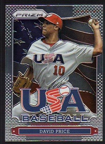 2013 Panini Prizm USA Baseball Insert #8 David Price Tampa Bay - Price Prizm