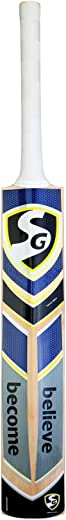 SG Sierra Plus Kashmir Willow Cricket Bat ( Size: Short Handle,Leather Ball )