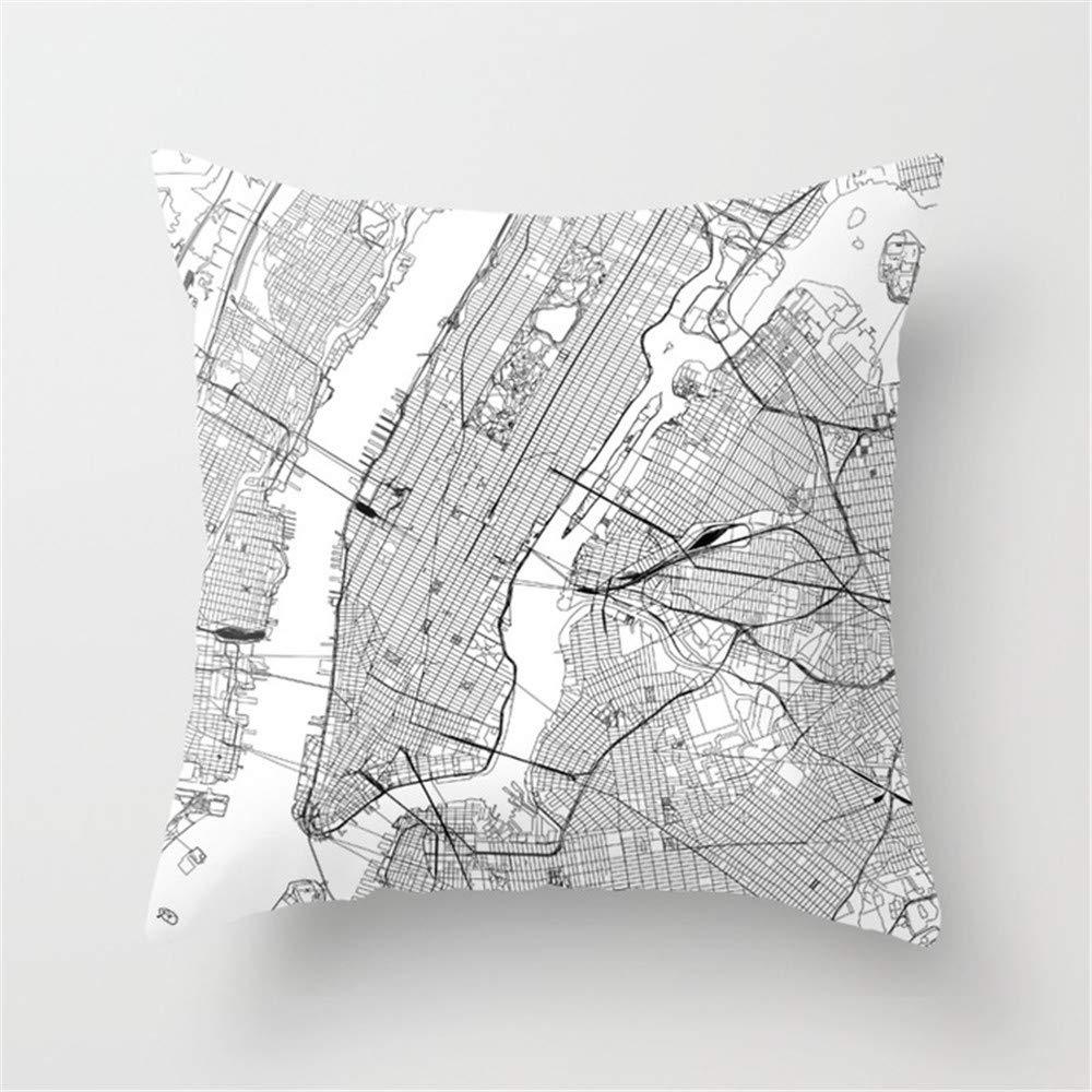 Jack16 New York City - Funda de cojín con diseño de ...
