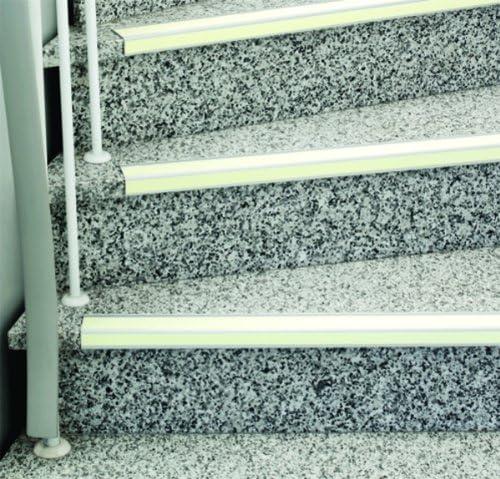 Lucha contra-Rutschbelag Safety-escalera R10 cantoneras de aluminio fotoluminiscente 60X...: Amazon.es: Bricolaje y herramientas