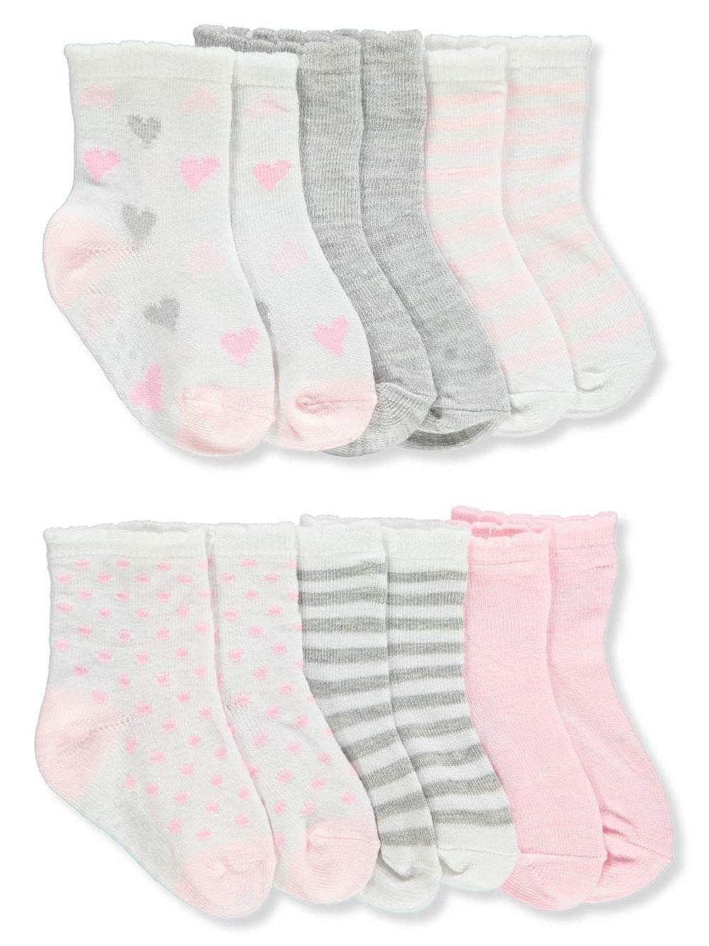 Aden Baby Girls 6-Pack Gripper Socks