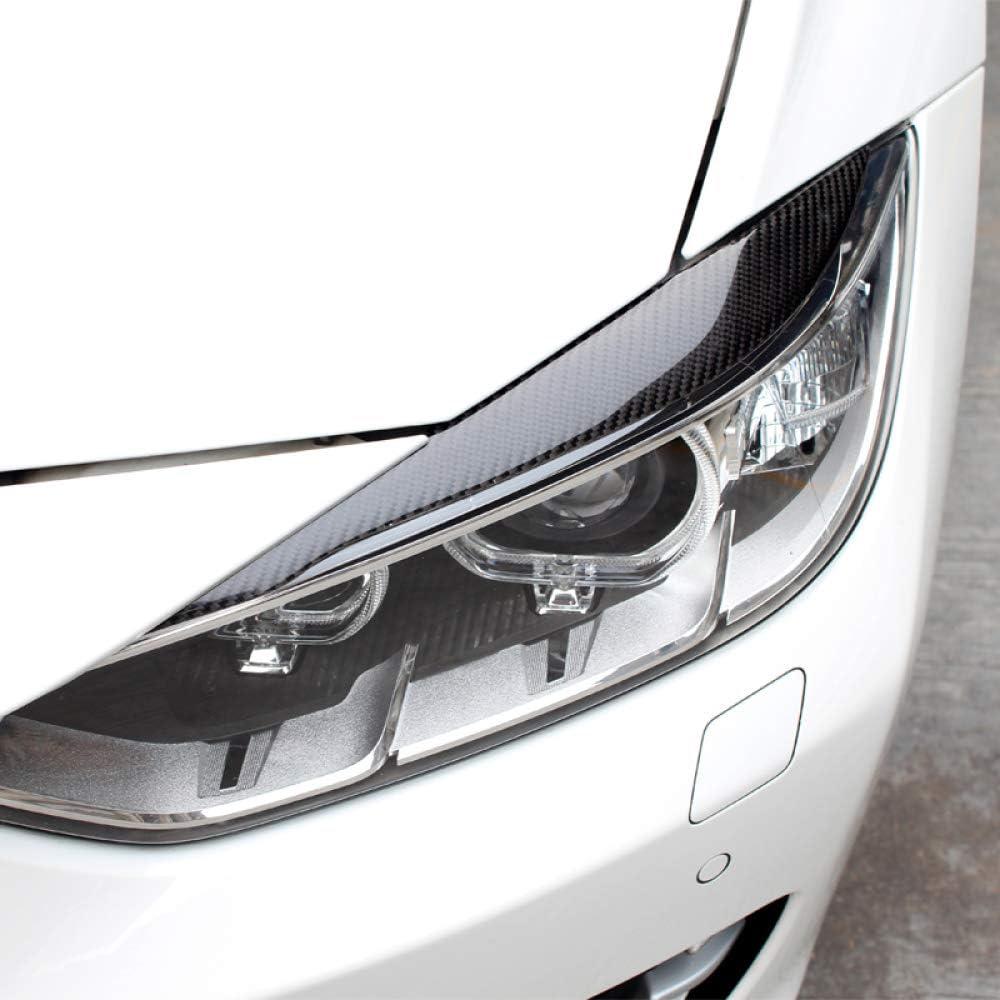 JXSMQC Carbon Fiber Car Frontscheinwerfer Augenbrauen Augenlider./F/ür BMW 3er F30 320i 325i