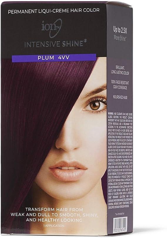 Kit de tinte para cabello intensivo de brillo, color morado 4VV