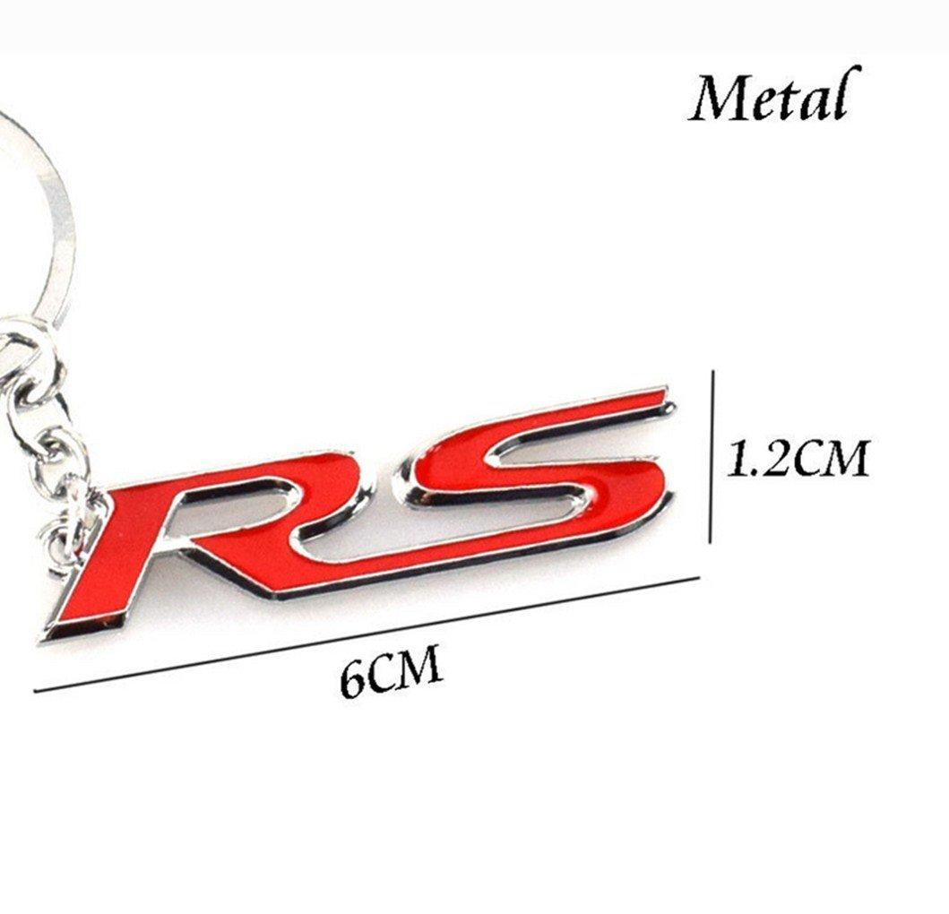 Coche 3d clave cadena llavero anillo llavero RS Logo para ...